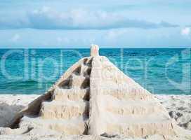 mayan sand pyramid