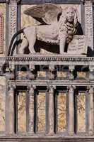 saint mark lion pazzia san marco saint mark place in the beautiful city of venice in italy
