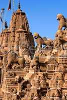 rooftop of jain temples in jaisalmer rajasthan india