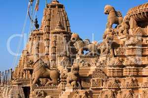 rooftop of jain temples of jaisalmer