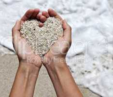Mellow heart shaping hands