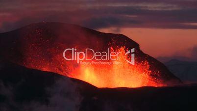Volcanic Eruption in Iceland (Eyjafjallajokull) Mars 2010.