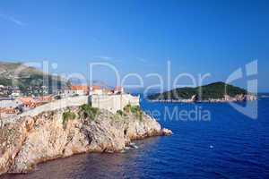 Dubrovnik and Lokrum Island on Adriatic Sea