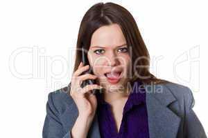 Verärgerte Geschäftsfrau