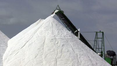 Extraction of salt, conveyor