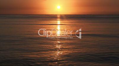 Sunrise over sea, tranquil landscape