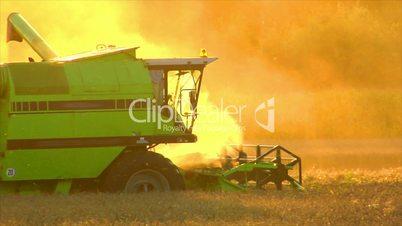 10720 combine harvester sundown twilight
