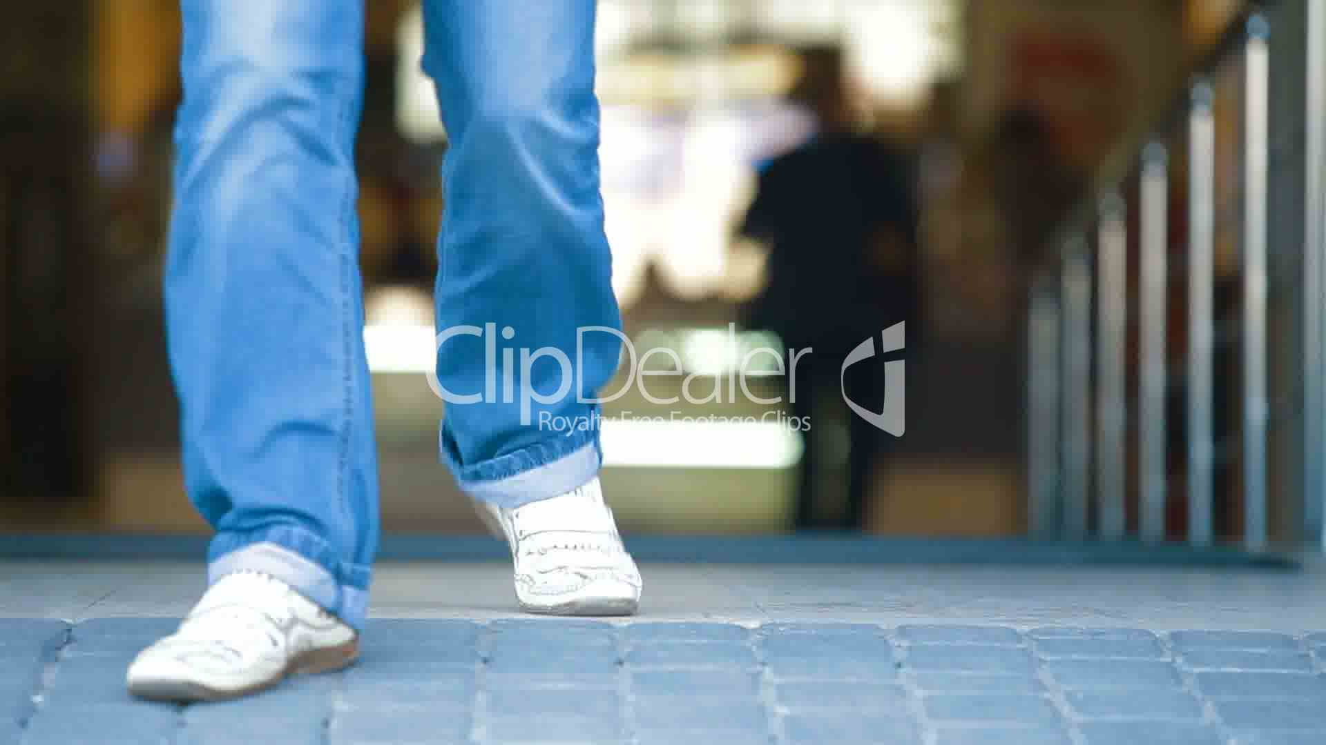 People Walking Through Glass Sliding Doors Royalty Free Video And