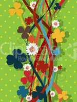 Retro clover pattern