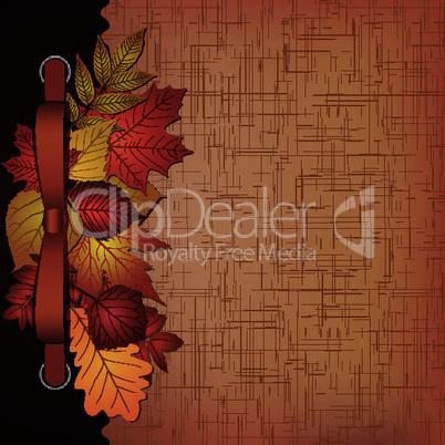 Autumn cover for an album with photos