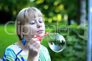 Big soap bubble