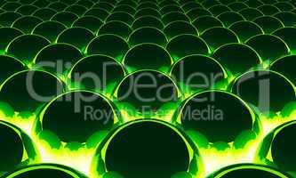 Magic Matrix Balls Background - Green 11