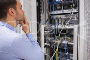 Man viewing the data store
