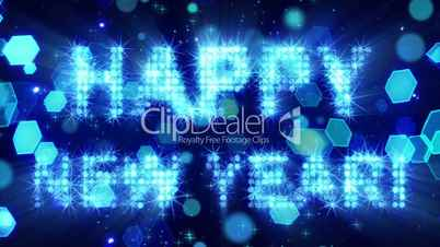happy new year from blue particles loop