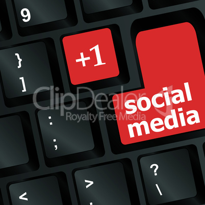 red social media buttons on keyboard