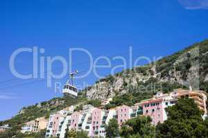 Gibraltar Houses and Cable Car