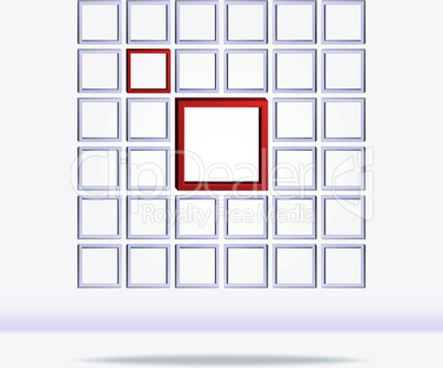 Abstract geometrical square background