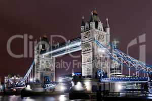 tower bridge illuminated
