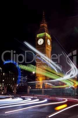 big ben and circle traffic lights