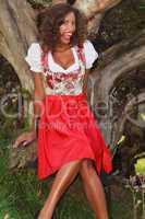 Lustiges Bayerisches Mädchen