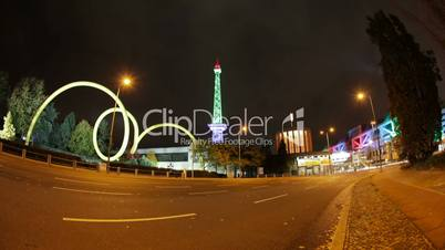 Berlin ICC and Funkturm Timelapse with Traffic in Full HD 1080p, German Capital
