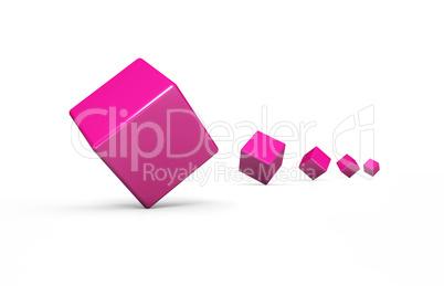 Würfelfolge pink Weiß 2