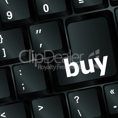 keyboard buy now icon - business concept - vector