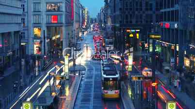 Timelapse Cars drive down street in Berlin, Germany in Full HD 1080p