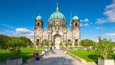 Berliner Dom (Berlin Cathedral) Timelapse with Cloud Dynamic in Full HD 1080p, German Capital