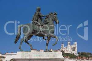 equestrian statue of louis xiv at place bellecour