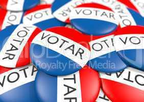 Vote button in Spanish