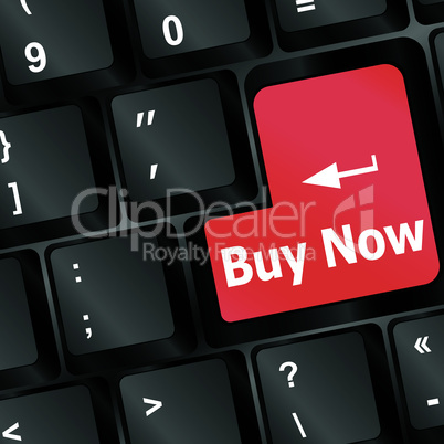 keyboard buy now icon - business concept