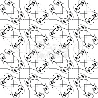 Mono black wallpaper with seamless repeating pattern background