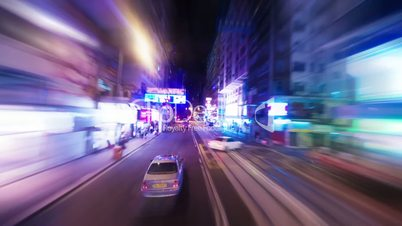 Hong Kong roads traffic, timelapse