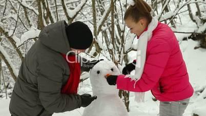 Teenage Couple Enjoying Winter Holidays