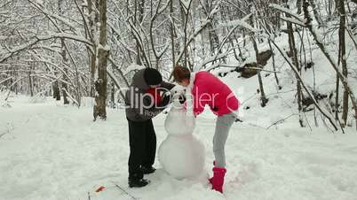 Winter Vacations In Snow Forest