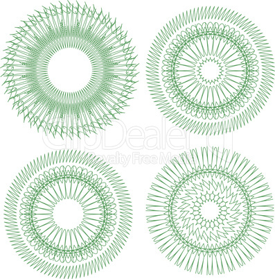 Vector pattern for currency, certificate or diplomas. guilloche design