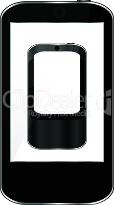 Vector Illustration of a modern smart phone for mobile communication