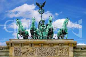 Berlin, Brandenburger Tor, Quadriga