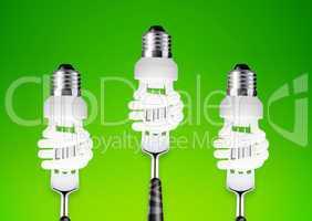 lightbulb on fork