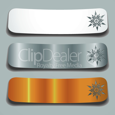 Set of three color banners