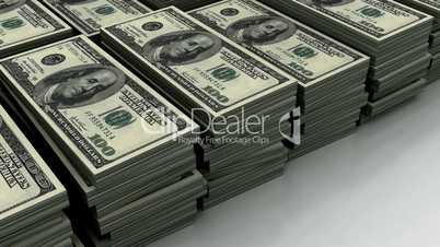 Stack of $100 bills (loop)