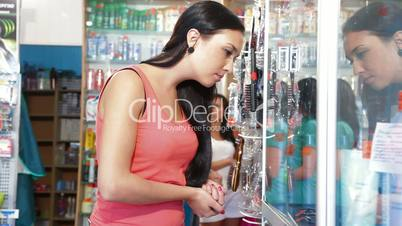 Shopping in Cosmetics Store