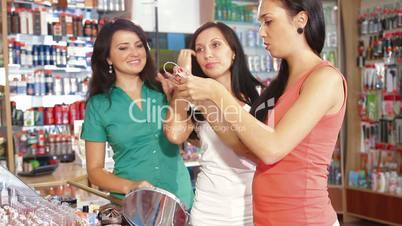 Choosing Tone of Hair Dye in Beauty Department