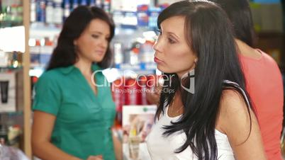 Female Customers Shopping for Beauty Care Products