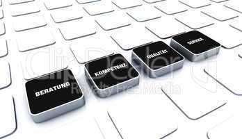 Quader Konzept Schwarz - Beratung Kompetenz Qualität Service 7