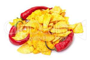 Spicy Corn Chips with Chilli Pepper