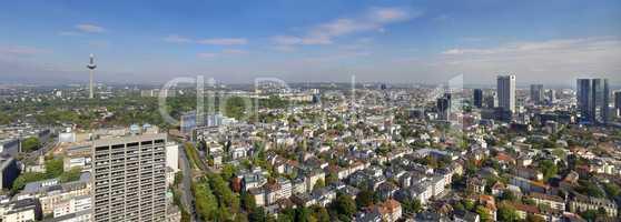 Skyline Frankfurt am Main mit Fernsehturm