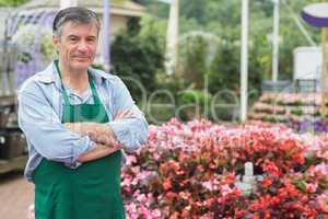 Employee in the greenhouse