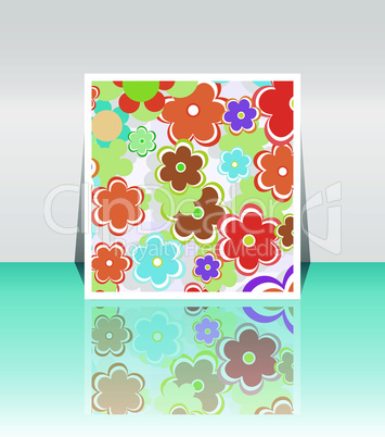 Design background of spring flowers brochure. Birthday, easter or invitation card template